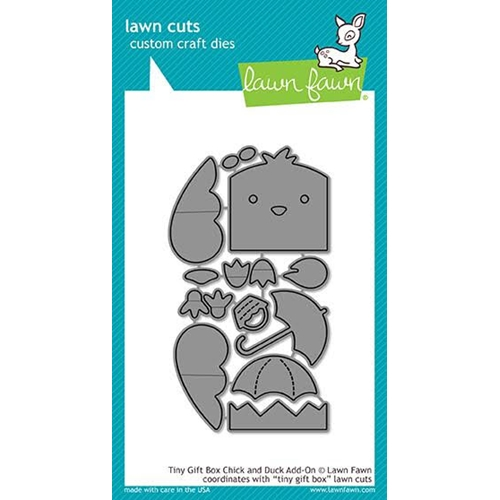 Lawn Fawn TINY GIFT BOX CHICK AND DUCK ADD-ON Die Cuts LF1908 Preview Image