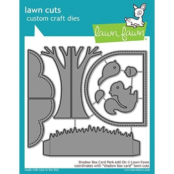 Lawn Fawn SHADOW BOX CARD PARK ADD-ON Die Cuts LF1907