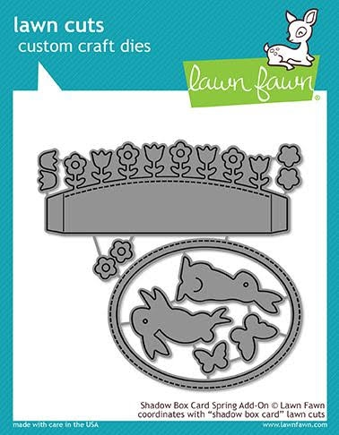 Lawn Fawn SHADOW BOX CARD SPRING ADD-ON Die Cuts LF1906* Preview Image