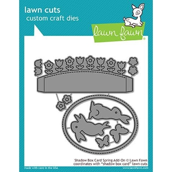 Lawn Fawn SHADOW BOX CARD SPRING ADD-ON Die Cuts LF1906