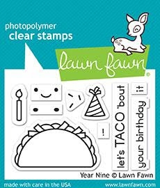 Lawn Fawn YEAR NINE Clear Stamps LF1901