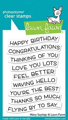 Lawn Fawn WAVY SAYINGS Clear Stamps LF1899 Preview Image