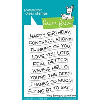 Lawn Fawn WAVY SAYINGS Clear Stamps LF1899