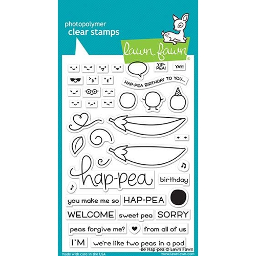 Lawn Fawn BE HAP-PEA Clear Stamps LF1890 Preview Image
