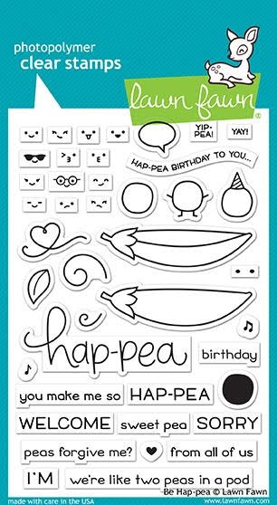 Lawn Fawn BE HAP-PEA Clear Stamps LF1890 zoom image