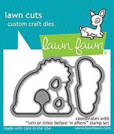 Lawn Fawn RAIN OR SHINE BEFORE 'N AFTERS Die Cuts LF1889