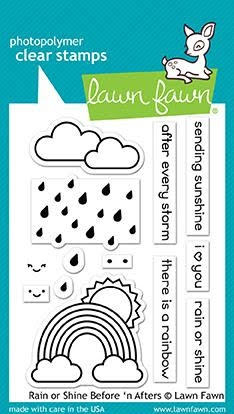 Lawn Fawn Rain Or Shine Before and Afters Stamp Set