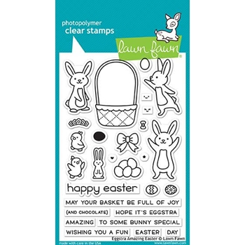 Lawn Fawn EGGSTRA AMAZING EASTER Clear Stamps LF1884