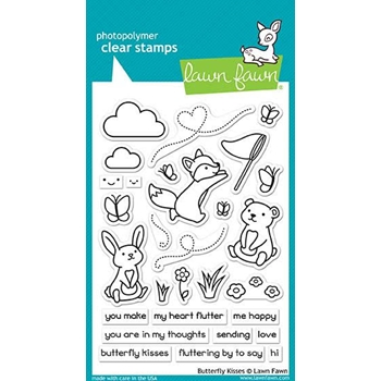 Lawn Fawn BUTTERFLY KISSES Clear Stamps LF1882