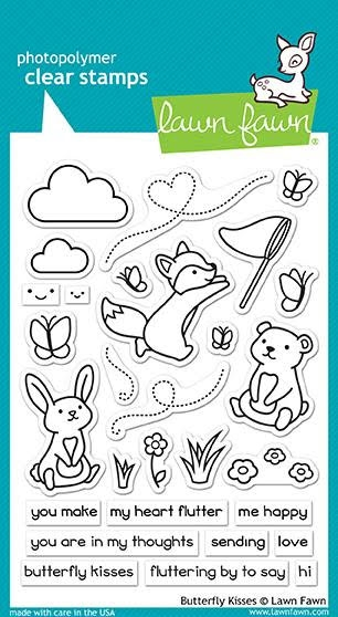 Lawn Fawn BUTTERFLY KISSES Clear Stamps LF1882 zoom image