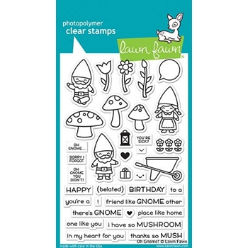 Lawn Fawn OH GNOME! Clear Stamps LF1880