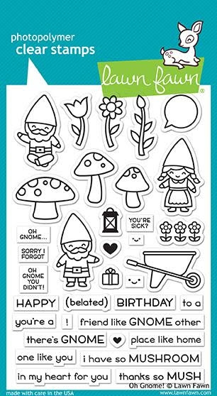 Lawn Fawn OH GNOME! Clear Stamps LF1880 zoom image