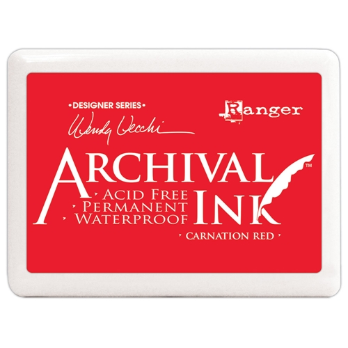 Ranger Wendy Vecchi Archival Ink Pad JUMBO CARNATION RED Make Art a3d56744 Preview Image