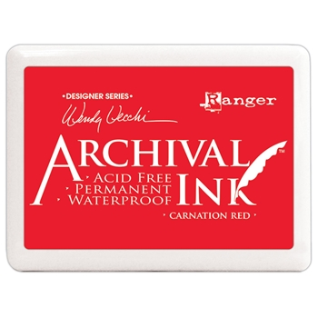 Ranger Wendy Vecchi Archival Ink Pad JUMBO CARNATION RED Make Art a3d56744
