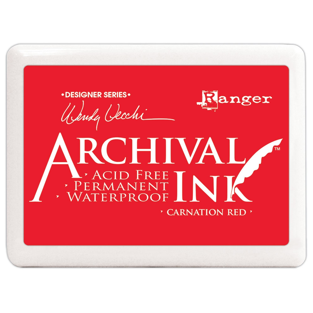 Ranger Wendy Vecchi Archival Ink Pad JUMBO CARNATION RED Make Art a3d56744 zoom image