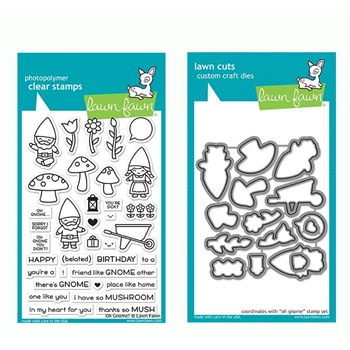 Lawn Fawn SET OH GNOME! Clear Stamps and Dies LF19OG