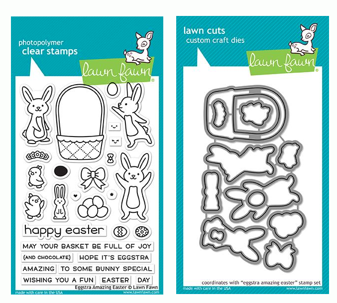 Lawn Fawn SET EGGSTRA AMAZING EASTER Clear Stamps and Dies LF19EAG