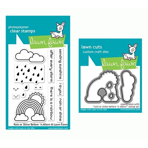 Lawn Fawn SET RAIN OR SHINE BEFORE 'N AFTERS Clear Stamps and Dies LF19ROS Preview Image