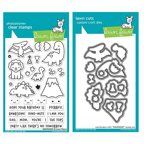 Lawn Fawn SET RAWRSOME Clear Stamps and Dies LF19SRM Preview Image