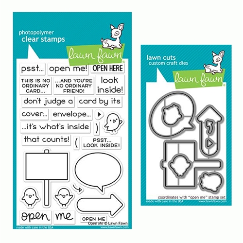 Lawn Fawn SET OPEN ME Clear Stamps and Dies LF19OM Preview Image
