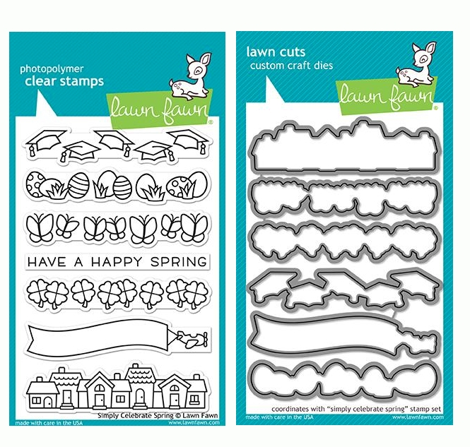Lawn Fawn SET SIMPLY CELEBRATE SPRING Clear Stamps and Dies LF19SCS zoom image