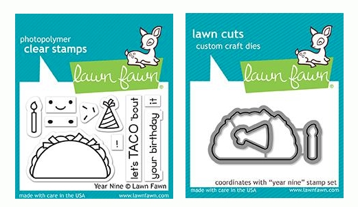 Lawn Fawn SET YEAR NINE Clear Stamps and Dies LF19YN zoom image