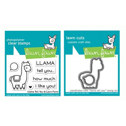 Lawn Fawn SET LLAMA TELL YOU Clear Stamps and Dies LF19LTY Preview Image
