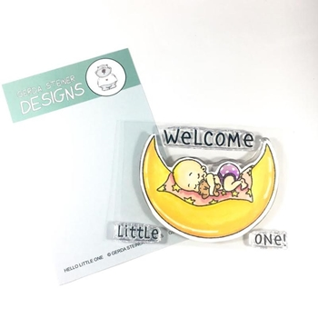 Gerda Steiner Designs HELLO LITTLE ONE Clear Stamp Set gsd655