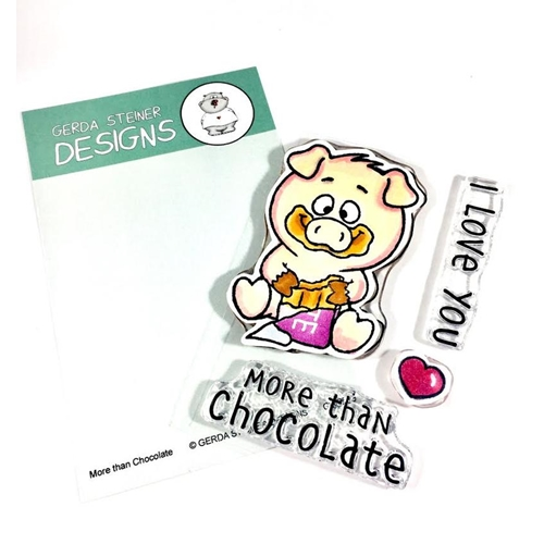 Gerda Steiner Designs MORE THAN CHOCOLATE Clear Stamp Set gsd665 Preview Image