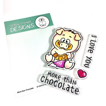 Gerda Steiner Designs MORE THAN CHOCOLATE Clear Stamp Set gsd665
