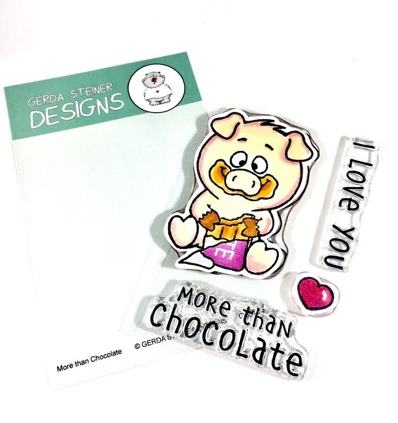 Gerda Steiner Designs MORE THAN CHOCOLATE Clear Stamp Set gsd665 zoom image