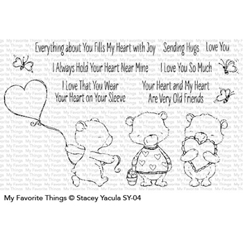 My Favorite Things JOYFUL HEART BEARS Clear Stamps SY04