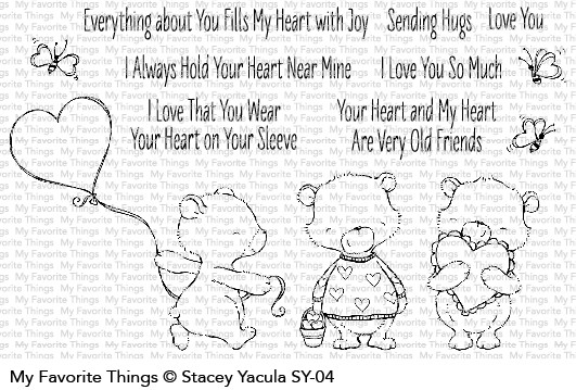 My Favorite Things JOYFUL HEART BEARS Clear Stamps SY04 zoom image