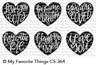 My Favorite Things HEART ART Clear Stamps CS364