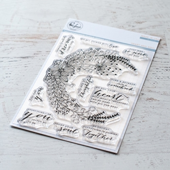PinkFresh Studio HEART AND SOUL Clear Stamp Set pfcs0519*