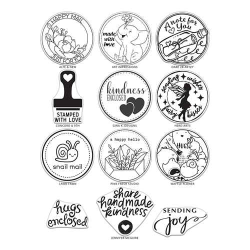 MAIL DELIVERY Clear Stamps By The Stamping Village TSV0119 Preview Image