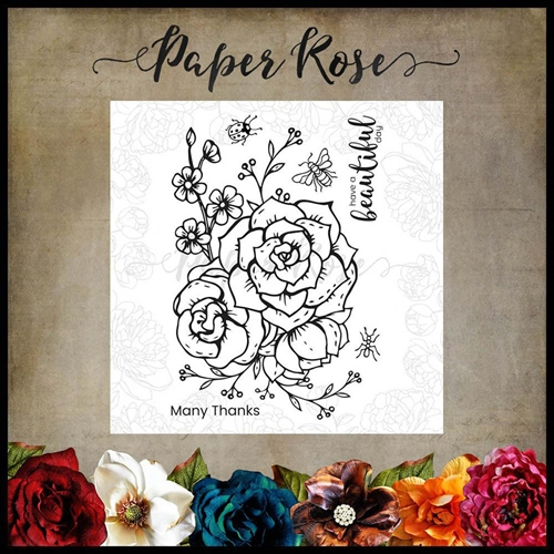 Paper Rose BEAUTIFUL DAY Clear Stamps 17880* Preview Image