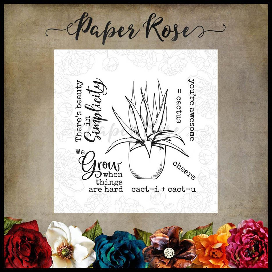 Paper Rose CACTUS QUOTES Clear Stamps 17890 zoom image