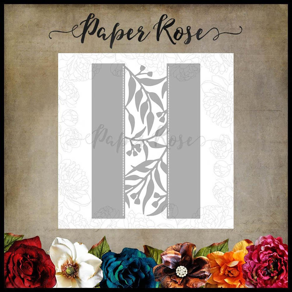 Paper Rose GUM LEAF BORDER Craft Die 17874 zoom image