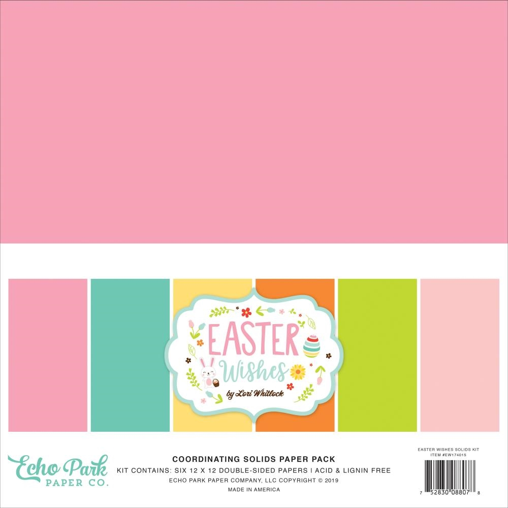 Echo Park Easter Wishes 12x12 Solids