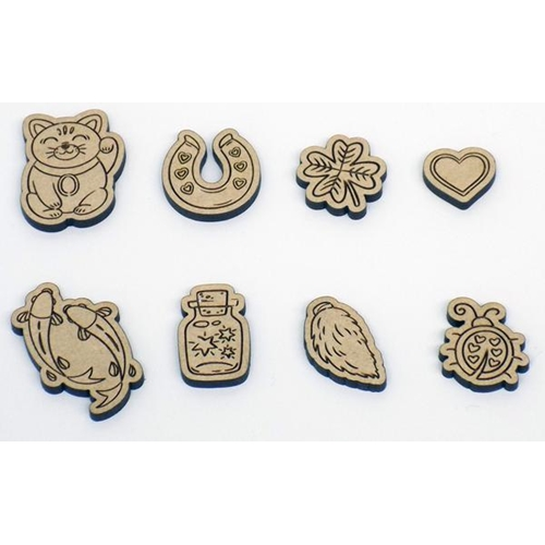 Brutus Monroe LUCKY PIECES Wood Cut Embellishments bru9958* Preview Image