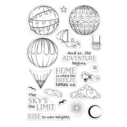 Hero Arts Clear Stamps SKY'S THE LIMIT BALLOONS CM325 Preview Image