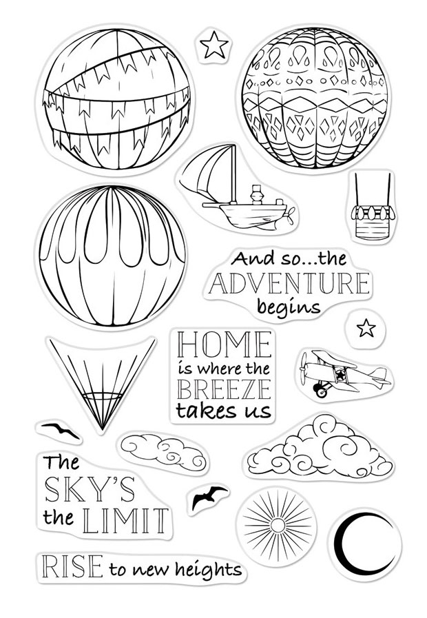 Hero Arts Clear Stamps SKY'S THE LIMIT BALLOONS CM325 zoom image