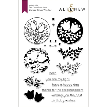 Altenew STAINED GLASS WINDOW Clear Stamps ALT2935