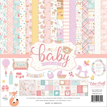 Echo Park HELLO BABY GIRL 12 x 12 Collection Kit bg171016