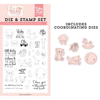 Echo Park LITTLE BABY Die & Stamp Set bg171044