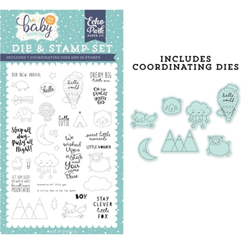 Echo Park NEW ARRIVAL Die And Stamp Set bb172044*