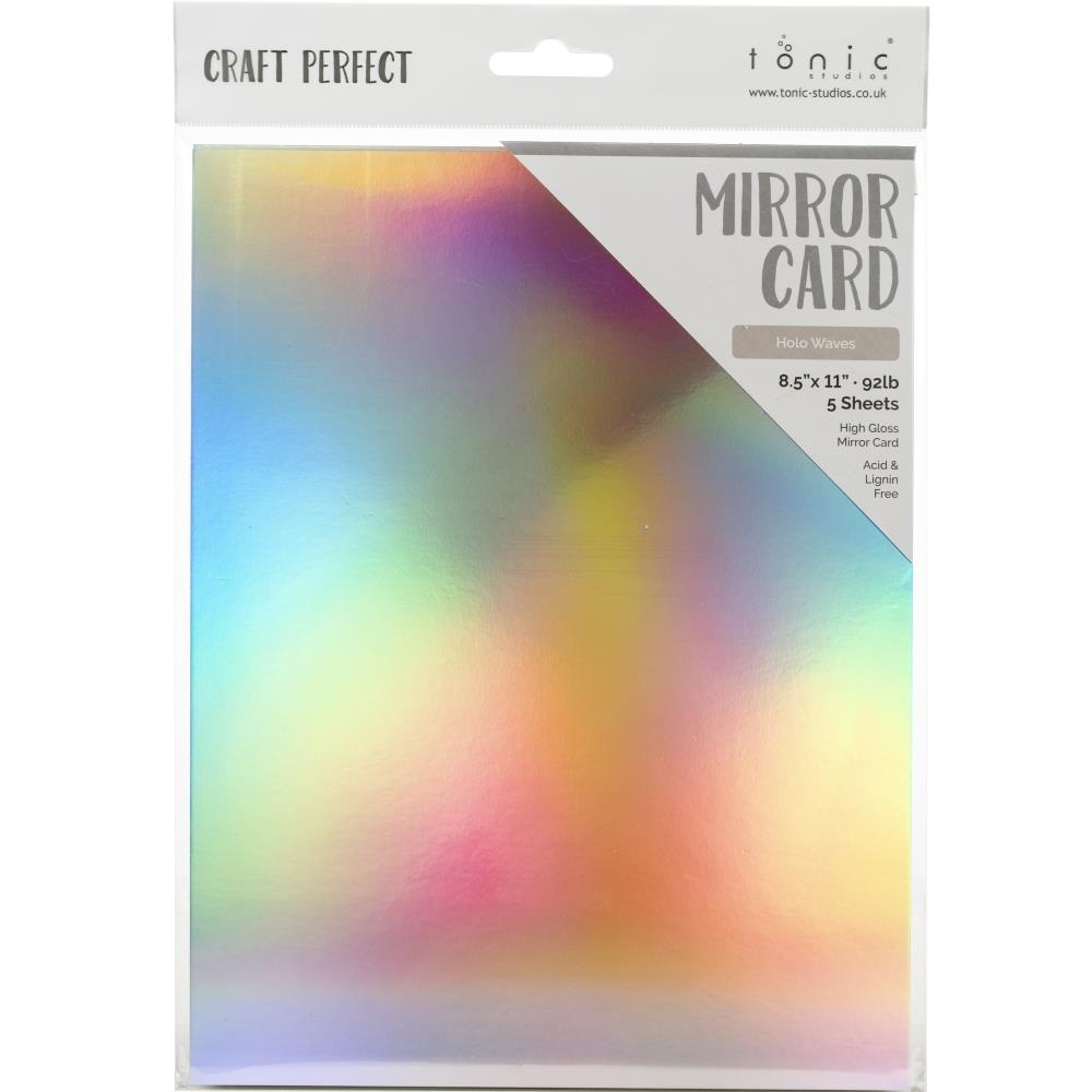 Tonic HOLO WAVES Mirror Card Gloss Cardstock 9463e zoom image