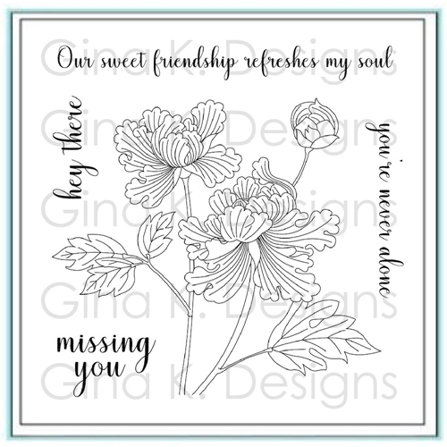 Gina K Designs SWEET FRIENDSHIP Clear Stamps 2781 Preview Image