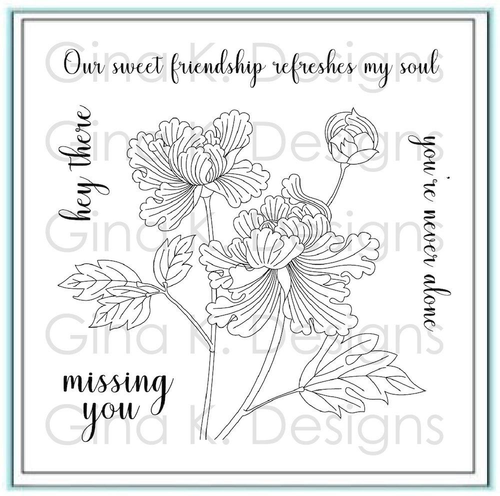 Gina K Designs SWEET FRIENDSHIP Clear Stamps 2781 zoom image